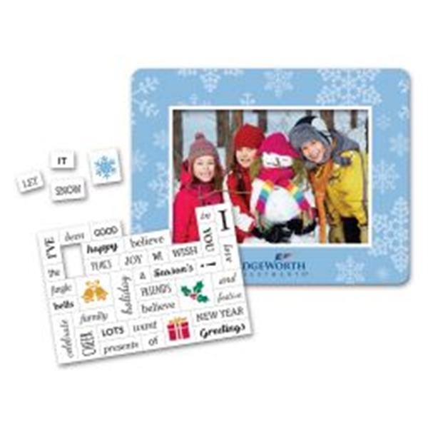 Holiday Message Magnet With Picture Frame Goimprints