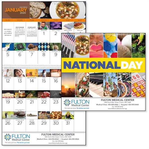 2020 National Day Calendar 13 Month National Day Calendar   GOimprints