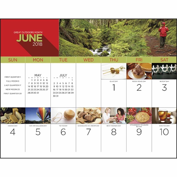 13 Month National Day Calendar Goimprints