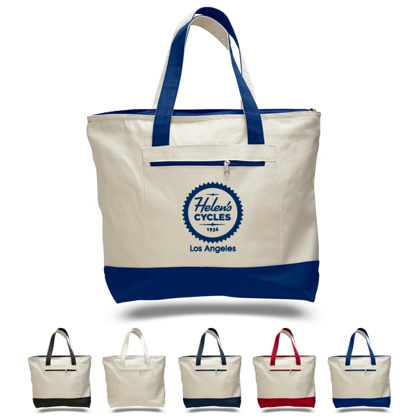 805eae48cb3e2 Deluxe Canvas Tote with Zippers - GOimprints