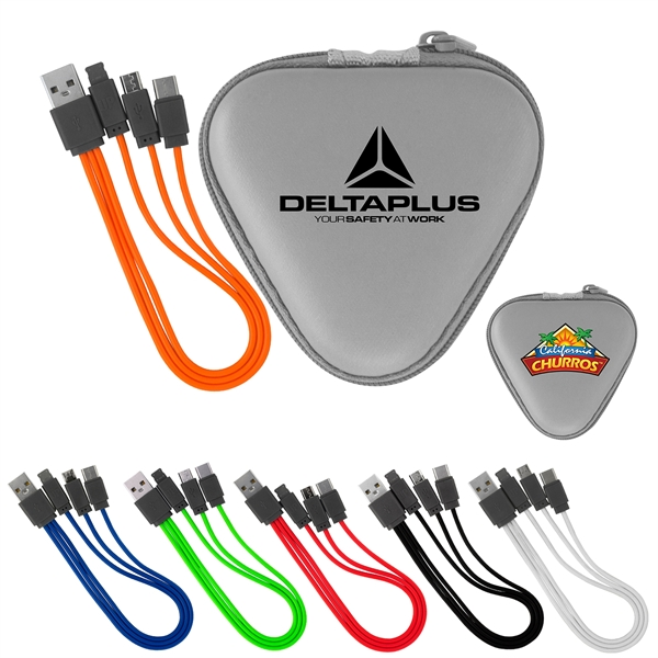 Triangle 3 In 1 Charging Set with Type C USB