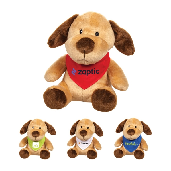 The Marley Plush Dog & Bandana