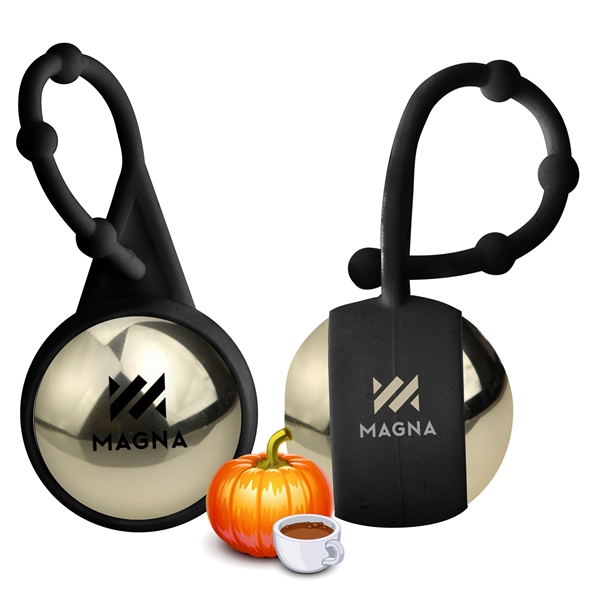 Pumpkin Spice Latte Holiday Metallic Lip Balm and Carabiner