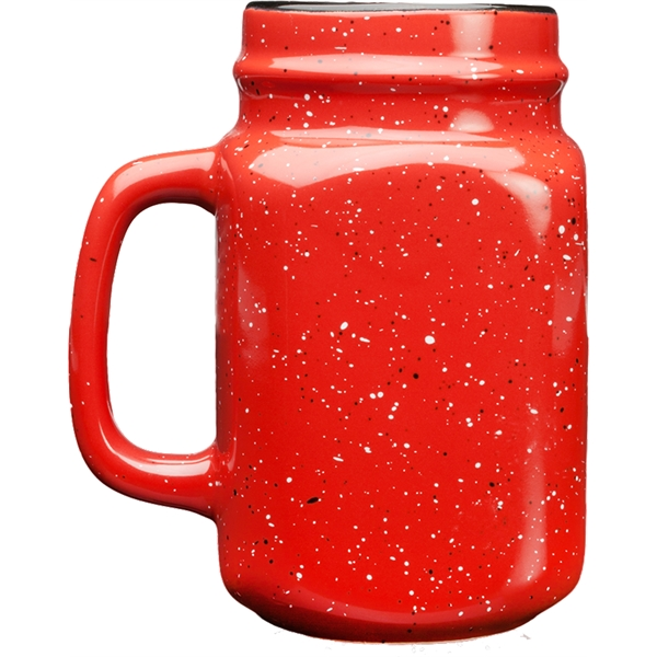 Details about  /American Girl Full Size Red Speckled Ceramic Mason Jar Mug New Store gift exclus