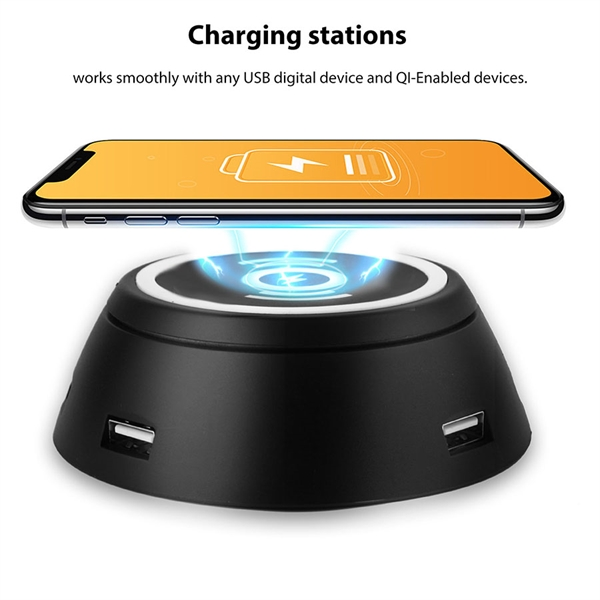 The Newest Qi Wireless Charging Pad with 6 USB Ports