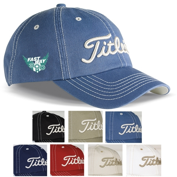 81d2578e9d0b2c Titleist (R) Custom Unstructured Contrast Stitch Cap