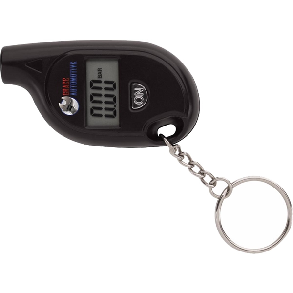 Digital Tire Gauge Keychain