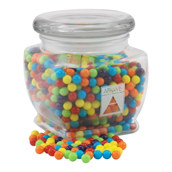 Mini Jawbreakers Candy in a Large Glass Jar with Lid