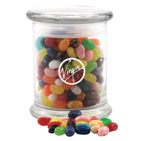 Runts Candy in a Large Round Glass Jar with Lid - GOimprints