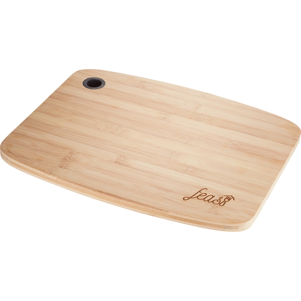 large bamboo cutting board with silicone grip goimprints. Black Bedroom Furniture Sets. Home Design Ideas