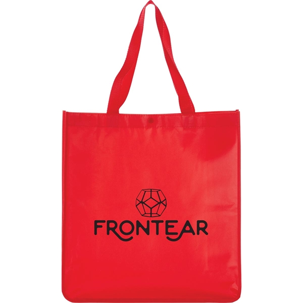 Oversized Laminated Non-Woven Shopper Tote