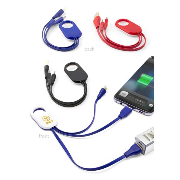 Tri Tech 3-In-1 Charging Cable for Mobile Devices
