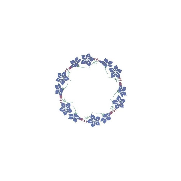 Blue Flower Ring Temporary Tattoo
