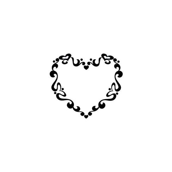 Tribal Swirl Heart Temporary Tattoo
