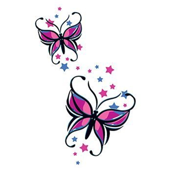 Butterflies and Stars Temporary Tattoo