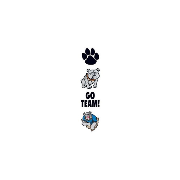 Bulldog Mascot Temporary Tattoo Set - GOimprints