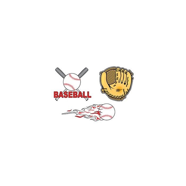 Baseball Set of Temporary Tattoos