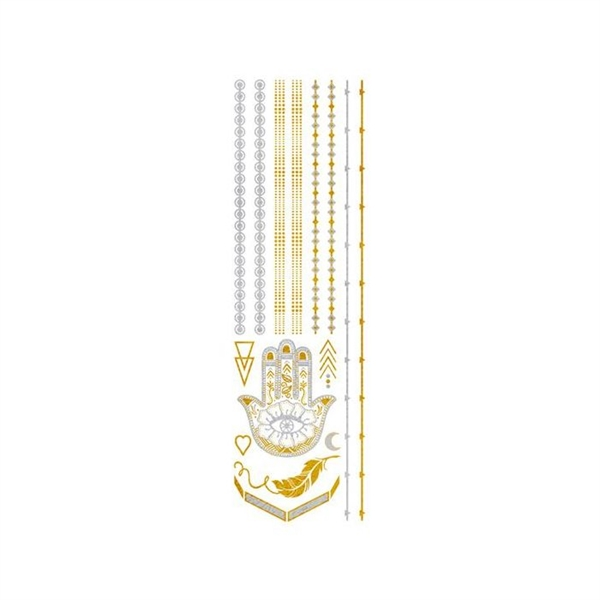 Gold and Silver Jewelry Temporary Tattoos