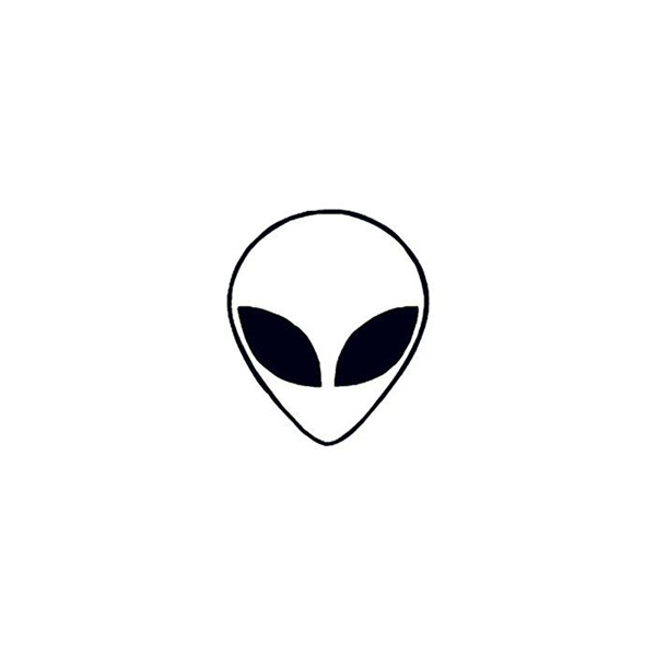 Glow in the Dark Alien Temporary Tattoo
