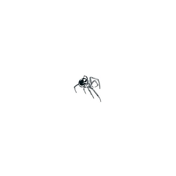 Glow In The Dark Spider Temporary Tattoo