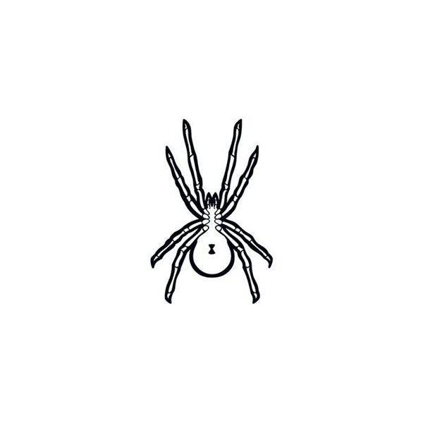 Glow in the Dark Black Spider Temporary Tattoo