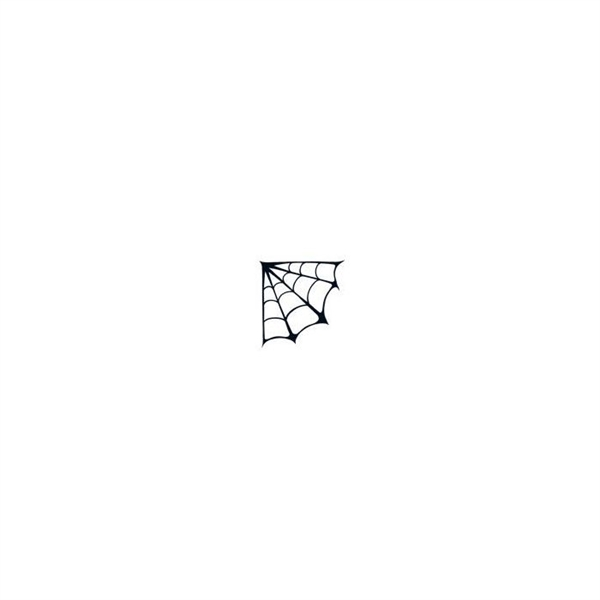 Glow In The Dark Corner Spider Web Temporary Tattoo