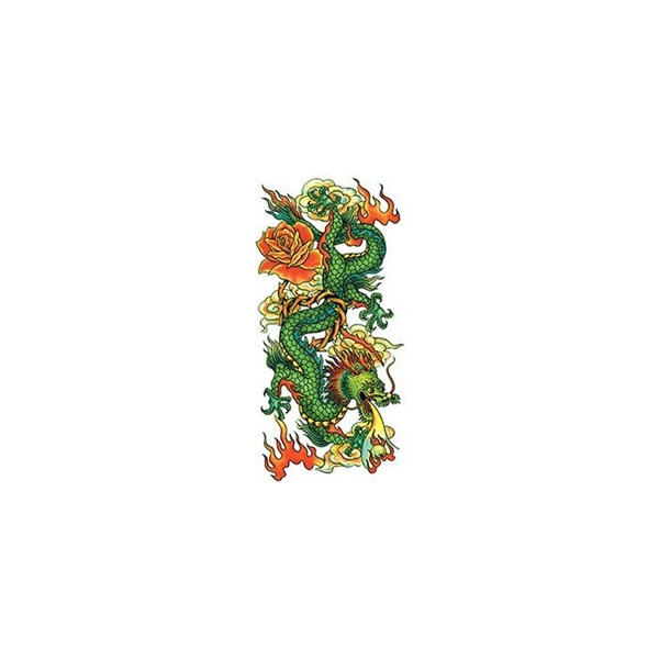 Glitter Chinese Dragon Temporary Tattoo