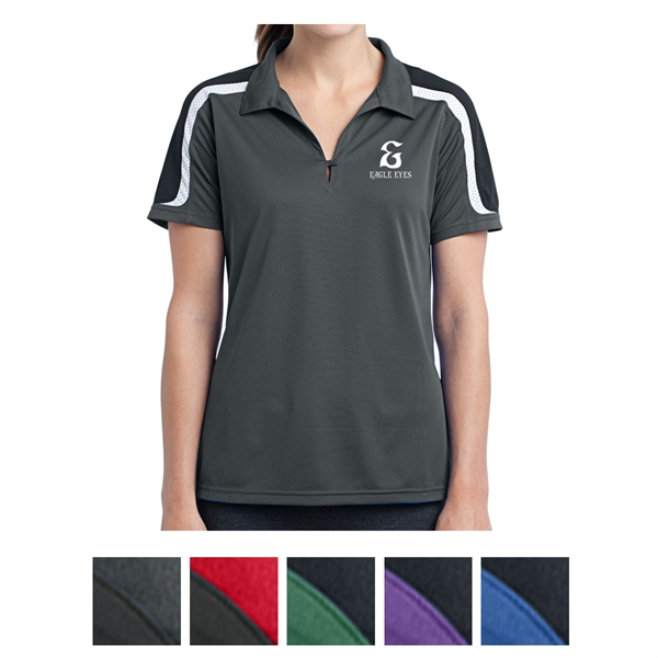Sport-Tek Ladies Tricolor Shoulder Micropique Sport-Wick ...