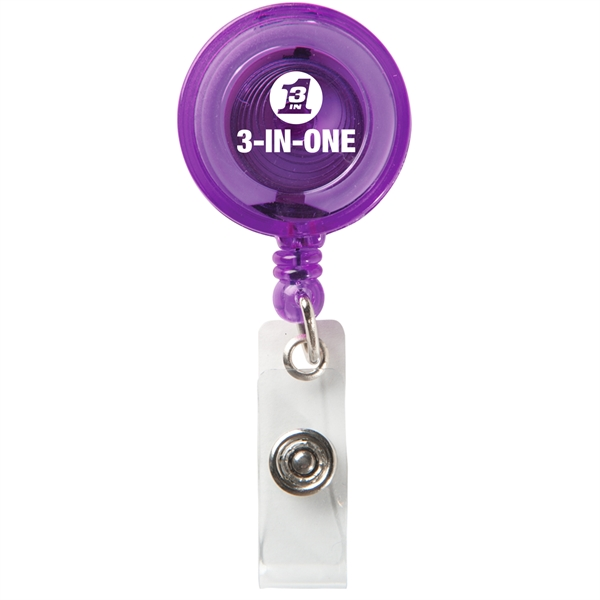 Round Secure-A-Badge™ with Alligator Clip