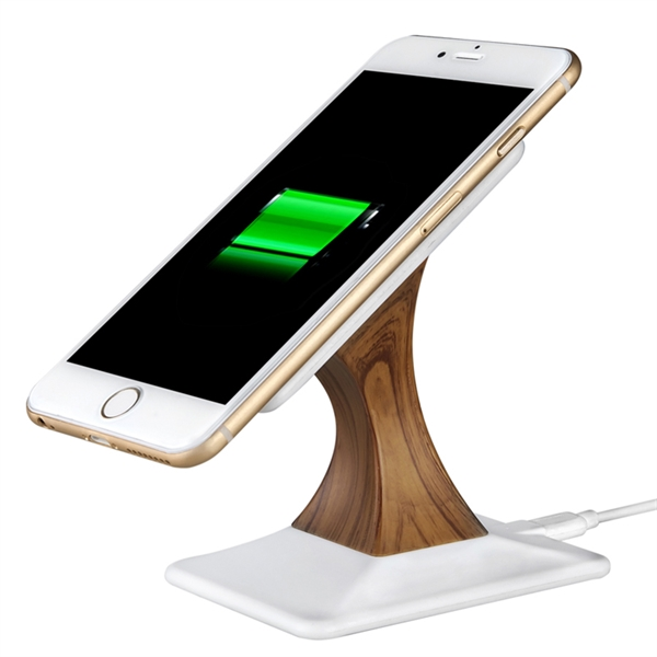 Nano wood grain wireless charging stand