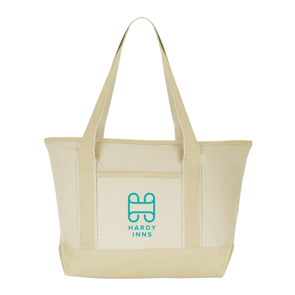 499ae588e Vapor Natural Canvas Tote Bag - GOimprints