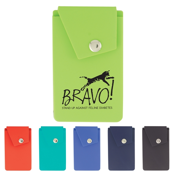 Silicone Smart Phone Wallet with Stand