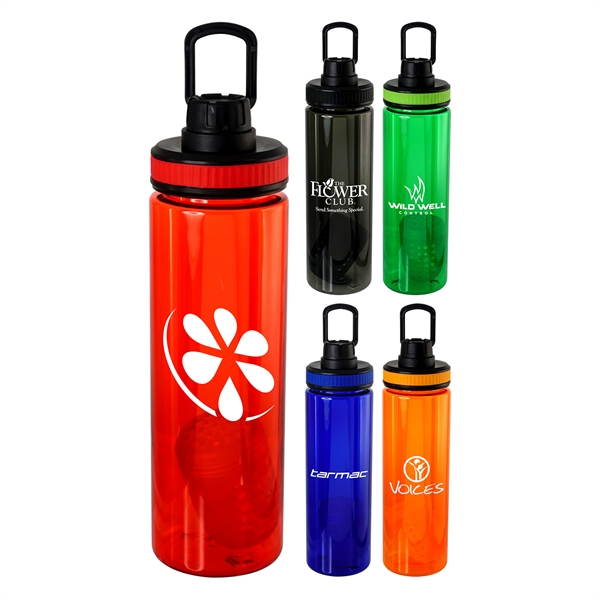 Band-It 24 oz. Colorful Bottle with Floating Infuser