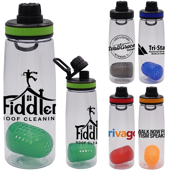BAND-IT 25 OZ. C0NTOUR BOTTLE WITH FLOATING INFUSER