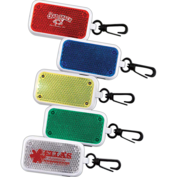 Reflective Clip-On Flashing Safety Light (Imprinted)