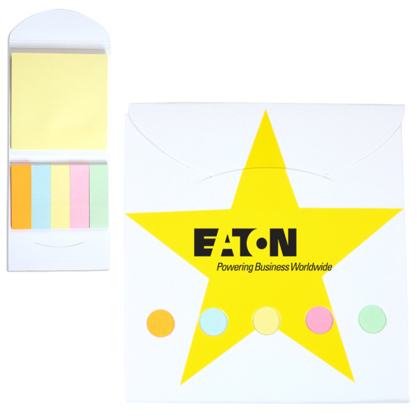 Pocket Sticky Note Memo Book - Star