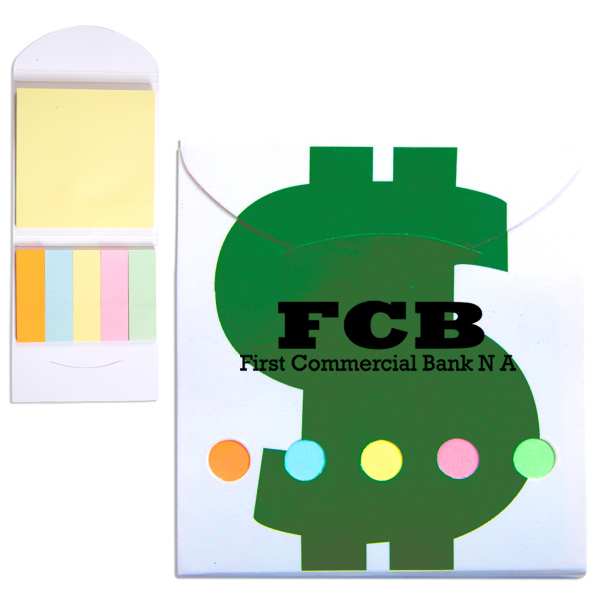 Pocket Sticky Note Memo Book - Financial