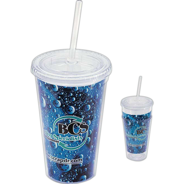 Impress 16 oz Tumbler with Full-Color Paper Insert
