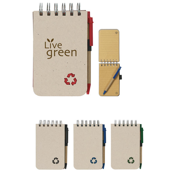 Discount Eco-Rich Spiral Jotter & Pen