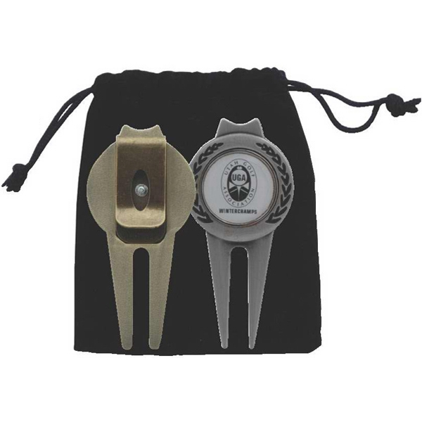 Magnetic Ball Marker/Divot Tool with Clip