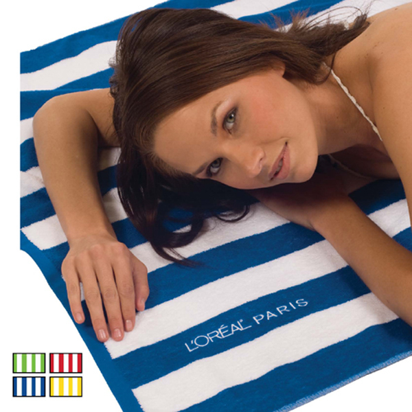 Cabana Striped Loop Terry Beach Towels