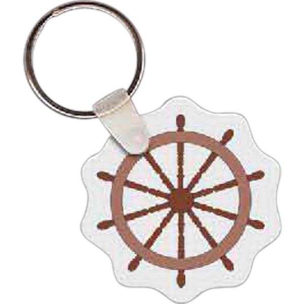 Ship's Wheel Key tag