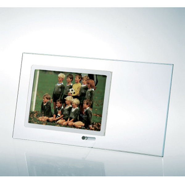 Starfire Clear Glass Horizontal Stainless Photo Frame