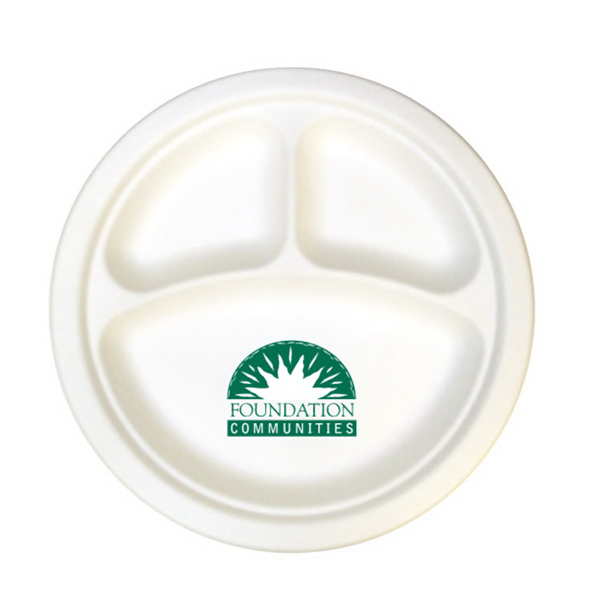10\  3-Compartment Compostable Paper Plate  sc 1 st  GOimprints : compostable paper plates - pezcame.com