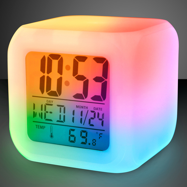 Light Up Color Change Led Digital Alarm Clock Goimprints