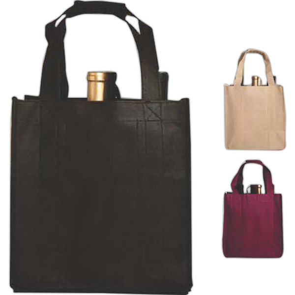 Vino Sack (TM) Six-Bottle Bag, Open Top, Velcro (R) Handles