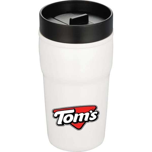 Double-Wall Ceramic Tumbler with Hard Lid 10 oz
