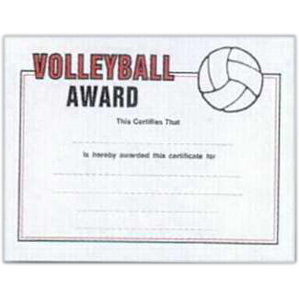 image relating to Free Printable Sports Certificates titled Sports activities Certificates 8 1/2\