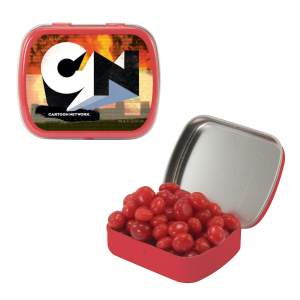 Small Red Mint Tin with Cinnamon Red Hots