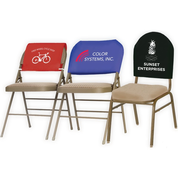 Fantastic Draped Twill Reusable Advertising Chair Headrest Covers Pabps2019 Chair Design Images Pabps2019Com